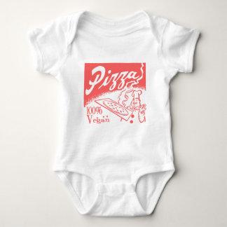 Bebé de la pizza del vegano del vintage tshirt