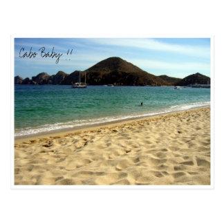 bebé de la playa del cabo tarjeta postal