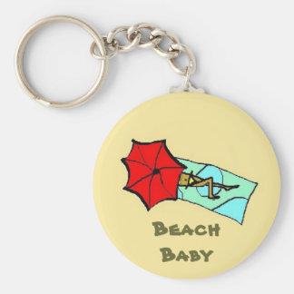 Bebé de la playa - llavero