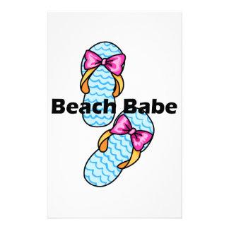 Bebé de la playa papeleria personalizada