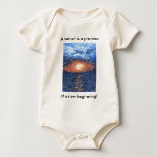 Bebé de la puesta del sol de Aleph de la génesis Body Para Bebé