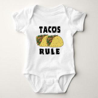 Bebé de la regla del Tacos Playera