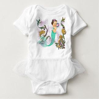 Bebé de la sirena body para bebé