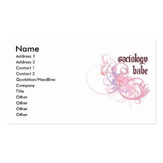 Bebé de la sociología plantillas de tarjetas de visita