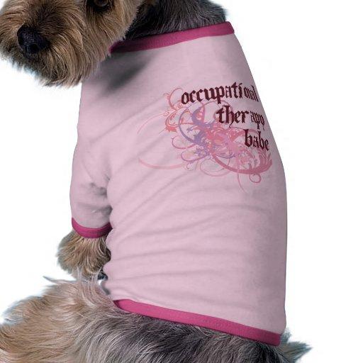 Bebé de la terapia profesional camiseta de perro