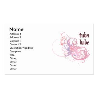 Bebé de la tuba tarjetas de visita