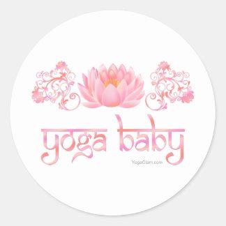 Bebé de la yoga de Lotus Pegatinas