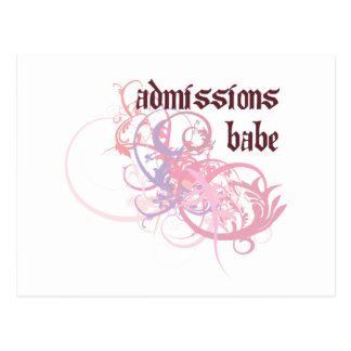 Bebé de las admisiones postal