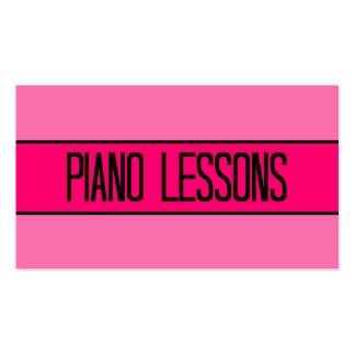 Bebé de las lecciones de piano y tarjeta de visita