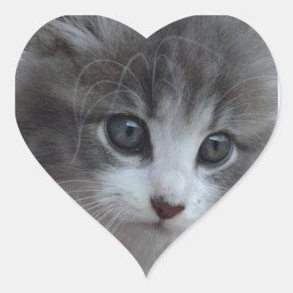 Bebé de las rebabas pegatina en forma de corazón