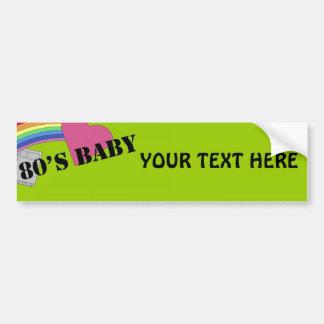 bebé de los años 80 pegatina para auto