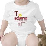 Bebé de los rasgos del escorpión trajes de bebé
