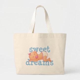 Bebé de los sueños dulces bolsa tela grande