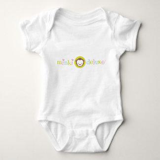 Bebé de lujo del desgaste del logotipo de Minki Playeras