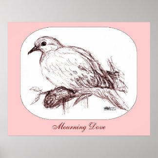 Bebé de luto de la paloma póster