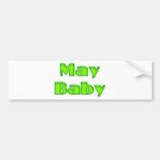 Bebé de mayo pegatina para auto
