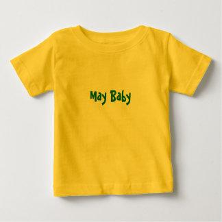 Bebé de mayo playeras