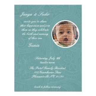 Bebé de Namkaran que nombra invitaciones Comunicados Personalizados
