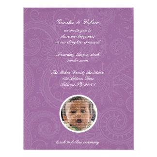 Bebé de Namkaran que nombra invitaciones Invitación Personalizada