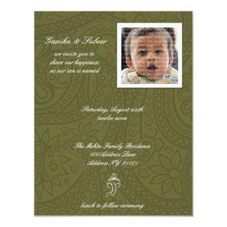 """Bebé de Namkaran que nombra invitaciones Invitación 4.25"""" X 5.5"""""""