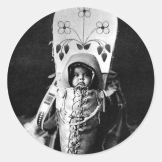 Bebé de Nez Perce Pegatina Redonda