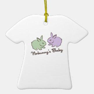 Bebé de Nobunnys Adorno De Cerámica En Forma De Camiseta