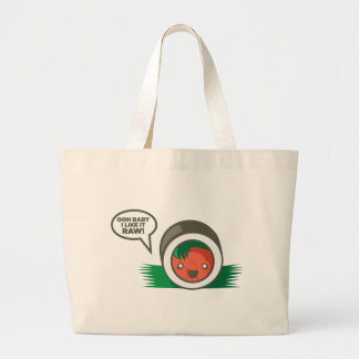 Bebé de Ooh del Sushi de Kawaii tengo gusto de él  Bolsas Lienzo
