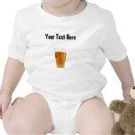 Bebé de oro lleno adaptable del vidrio de cerveza trajes de bebé