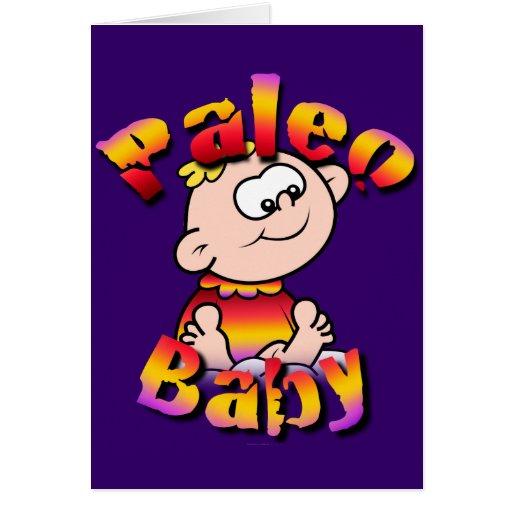 Bebé de Paleo Tarjeta De Felicitación