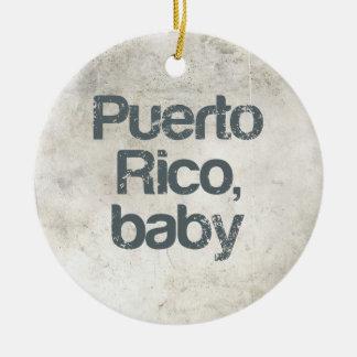 Bebé de Puerto Rico Adorno Redondo De Cerámica