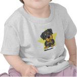 Bebé de Rottweiler de la estrella de Kawaii Camisetas
