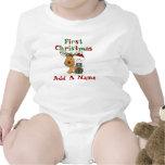 Bebé de Santa y primer mono del navidad del reno Camiseta