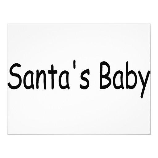 Bebé de Santas Invitación