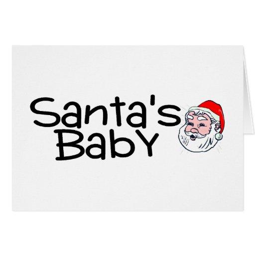 Bebé de Santas Tarjeta De Felicitación
