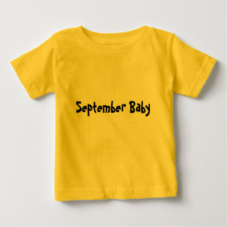 Bebé de septiembre playeras