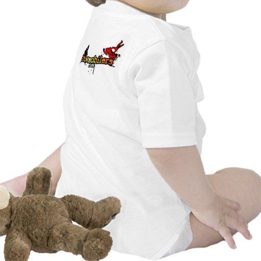 """Bebé de Snowmobilers.com del """"Sledder futuro"""" Camisetas"""
