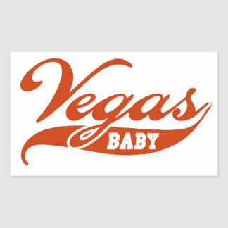 Bebé de Vegas Pegatina Rectangular