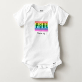 Bebé del aliado del orgullo mameluco de bebé