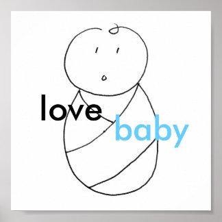 Bebé del amor (azul) poster