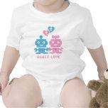 Bebé del amor del robot camiseta