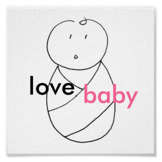 Bebé del amor (rosa) poster