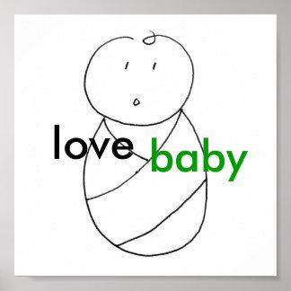Bebé del amor (verde) posters