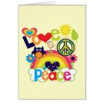 Bebé del amor y de la paz felicitaciones