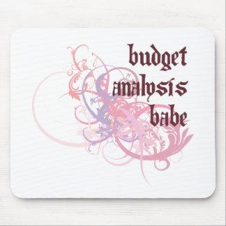 Bebé del análisis del presupuesto tapete de ratón