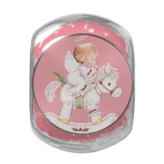 Bebé del ángel del JellyBean, Navidad blanca del Jarras De Cristal