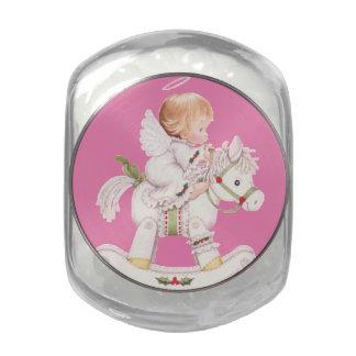 Bebé del ángel del JellyBean, Navidad blanca del Frascos De Cristal