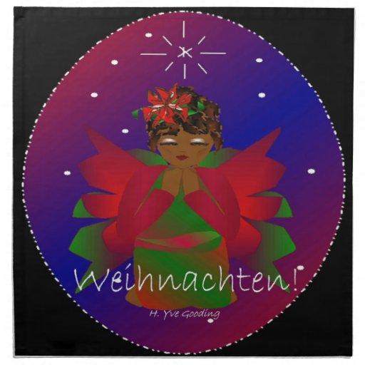 Bebé del ángel del navidad que ruega Weihnachten Servilletas Imprimidas