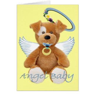 Bebé del ángel del oso de peluche de Jack Russell Tarjeton