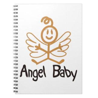 Bebé del ángel spiral notebooks