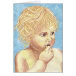 Bebé del ángel tarjeta